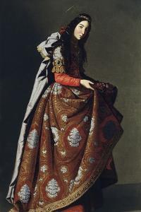 Saint Casilda of Toledo, Ca 1630-1634 by Francisco de Zurbar?n