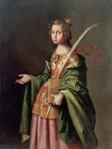 Saint Elizabeth of Thuringia, Ca 1637-1640 by Francisco de Zurbar?n