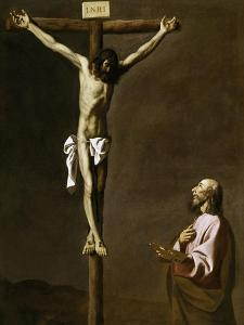 Saint Luke as a Painter, before Christ on the Cross, 1650 by Francisco de Zurbar?n