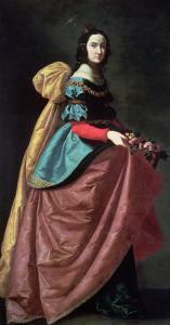 St. Elizabeth of Portugal 1640 by Francisco de Zurbar?n