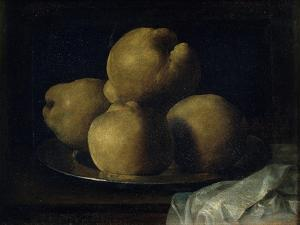 Still Life with Dish of Quince by Francisco de Zurbar?n