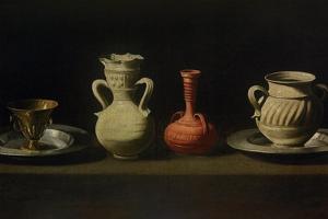 Still Life with Four Vessels by Francisco de Zurbar?n
