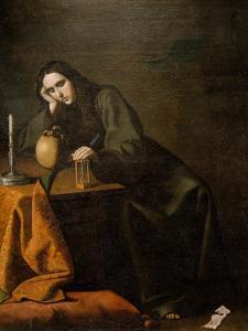 The Penitent Magdalen by Francisco de Zurbar?n