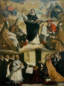 Apotheosis of Saint Thomas Aquinas by Francisco de Zurbarán