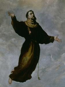Levitation of St. Francis by Francisco de Zurbaran