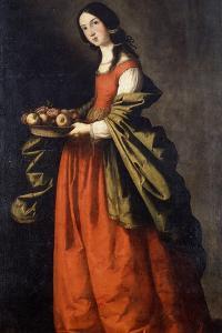 Saint Dorothea by Francisco de Zurbaran