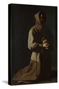 Saint Francis in Meditation, 1635-1640 by Francisco de Zurbarán