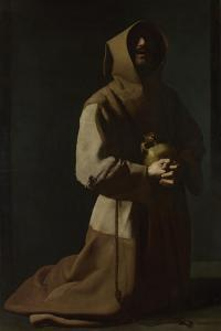 Saint Francis in Meditation, 1635-1640 by Francisco de Zurbarán