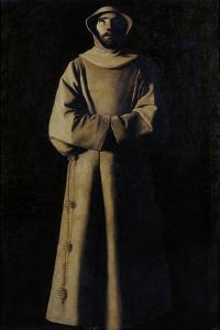 Saint Francis of Assisi after the Vision of Pope Nicholas V by Francisco de Zurbarán