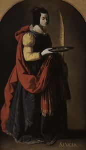Sainte Lucie by Francisco de Zurbarán