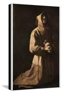 Sanctity: St Francis in Meditation, 1635-1639 by Francisco de Zurbaran