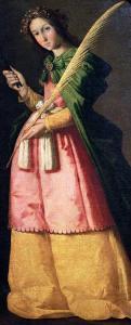 St. Apollonia, circa 1636 by Francisco de Zurbarán