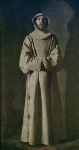 St. Francis 1645-64 by Francisco de Zurbarán