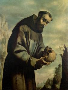 St. Francis in Meditation by Francisco de Zurbarán