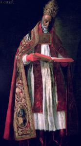 St. Gregory the Great (circa 540-604) by Francisco de Zurbarán