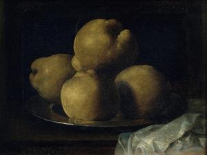 Still Life with Dish of Quince by Francisco de Zurbarán