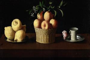 Still Life with Lemons, Oranges and a Rose, 1633 by Francisco de Zurbaran