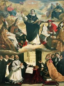 The Apotheosis of St. Thomas Aquinas, 1631 by Francisco de Zurbarán