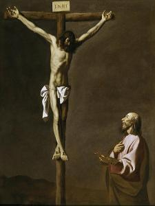 The Crucified Christ with a Painter, c.1650 by Francisco de Zurbaran