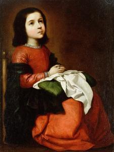 Virgin Mary as a Child by Francisco de Zurbaran