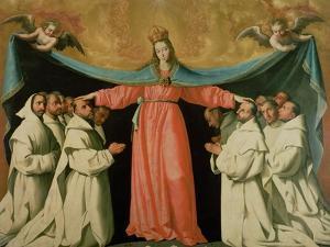 Virgin of the Misericordia Sheltering the Carthusians, circa 1629 by Francisco de Zurbarán