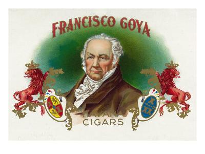 Francisco Goya Brand Cigar Box Label-Lantern Press-Art Print