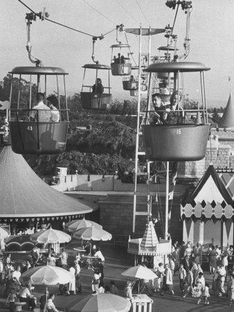 Francisco Pignatari and Girlfriend Barbara Cailleux Visiting Disneyland-Ralph Crane-Photographic Print
