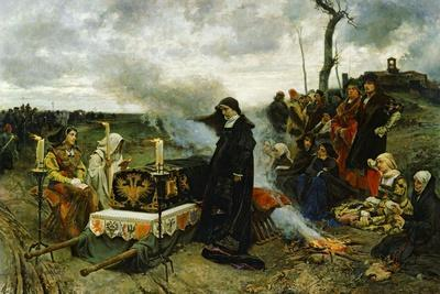 Juana the Mad Holding Vigil Over the Coffin of Her Husband, Philip the Handsom, 1877