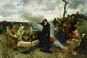 Juana the Mad Holding Vigil Over the Coffin of Her Husband, Philip the Handsom, 1877 by Francisco Pradilla Y Ortiz