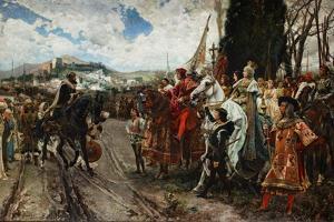 The Surrender of Granada in 1492, 1882 by Francisco Pradilla Y Ortiz