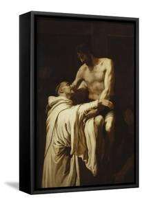 Christ Embracing Saint Bernard, Ca. 1626 by Francisco Ribalta