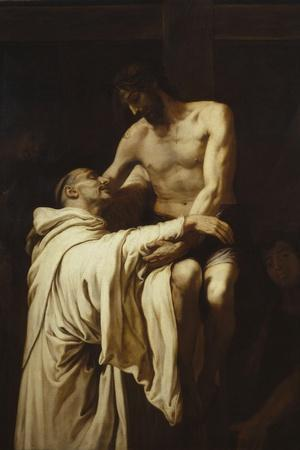Christ Embracing Saint Bernard, Ca. 1626