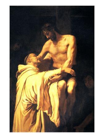 Christ Embracing St. Bernard