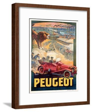 Advertisement for Peugeot, Printed by Affiches Camis, Paris, c.1922