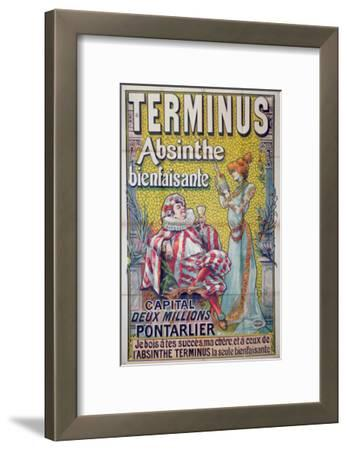 Poster advertising 'Terminus' absinthe, starring Sarah Bernhardt and Constant Coquelin