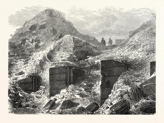 Franco-Prussian War: a Part of the Ramparts before Paris after the Bombing, France--Giclee Print