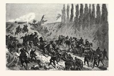 Franco-Prussian War: Ascension of the Heights of Spicheren by a Prussian Battery, the 6 August 1870--Giclee Print