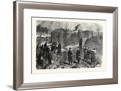 Franco-Prussian War: Demolition of French Batteries on the Mont-Avron--Framed Giclee Print