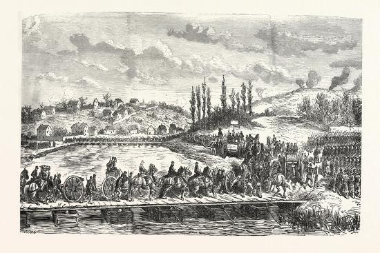 Franco-Prussian War: French Troops under General Ducrot Cross the Marne on 30 November 1870, France--Giclee Print