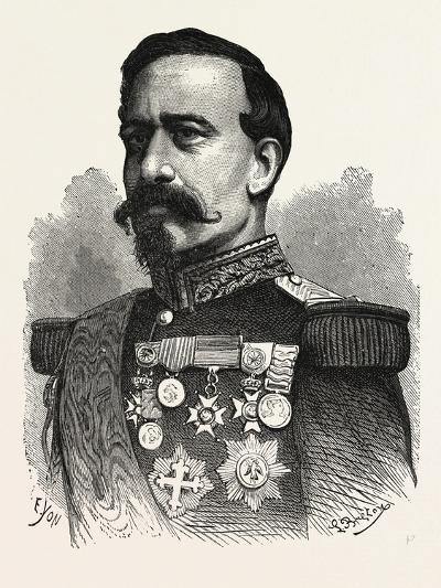 Franco-Prussian War: General Bourbaki, Commanding the Imperial Guard--Giclee Print