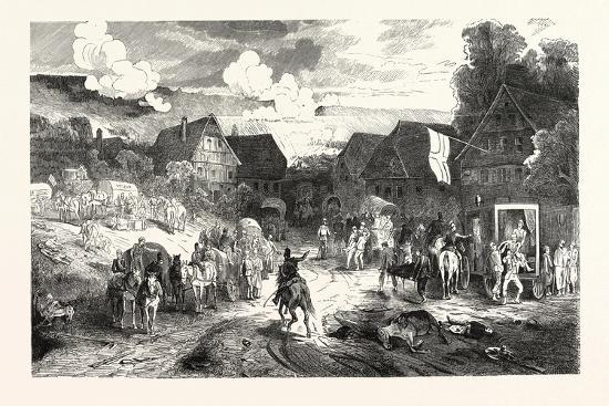 Franco-Prussian War: Hospital in a Village Near Wissembourg, France--Giclee Print