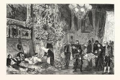 Franco-Prussian War: Hospital in Versailles Palace, France--Giclee Print