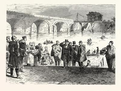 Franco-Prussian War: Jules Favre Lands During the First Week of the Armistice at the Bridge of Sevr--Giclee Print