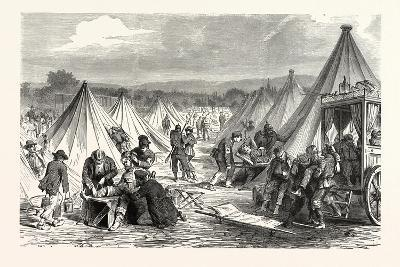Franco-Prussian War: Maahon Captured Camp at Reichshofen Will Be Set Up as Hospital for Wounded Mil--Giclee Print