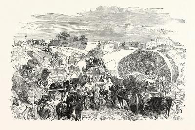 Franco-Prussian War: Residents of the Zollinie Flee--Giclee Print
