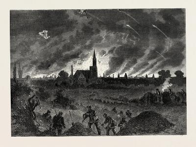 Franco-Prussian War: Strasbourg Fire During the Night Bombing of 25 August 1870--Giclee Print