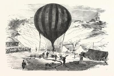 Franco-Prussian War: the Balloon Neptune on the St. Pierre De Montmartre Square