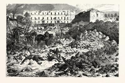 Franco-Prussian War: the Citadel of Laon after the Explosion, September 9 1870--Giclee Print