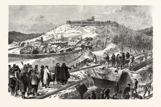 Franco-Prussian War: the City and the Fortress Montmedy, December 15 1870--Giclee Print