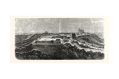 Franco-Prussian War: the Fortress Laon before the Explosion, France--Giclee Print